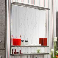 Зеркало Sanflor Румба 82 венге, патина серебро