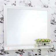Зеркало Sanflor Элен 100 белое, патина серебро