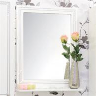 Зеркало Sanflor Элен 60 белое, патина серебро