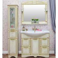 Мебель для ванной Sanflor Адель 100 белая, золото