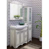 Мебель для ванной Sanflor Адель 82 белая, серебро, R