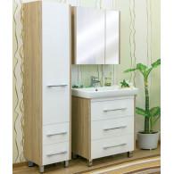 Мебель для ванной Sanflor Ларго 80 вяз, белая