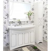 Мебель для ванной Sanflor Элен 120 белая, патина серебро