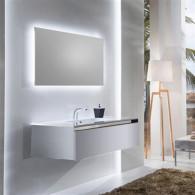 Мебель для ванной Sanvit Кубэ-1 120 белый глянец