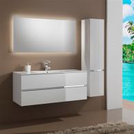 Мебель для ванной Sanvit Кубэ-2 120 белый глянец