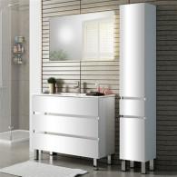 Мебель для ванной Sanvit Кубэ-3 70 белый глянец