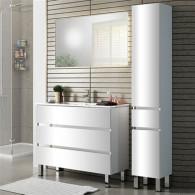 Мебель для ванной Sanvit Кубэ-3 75 белый глянец