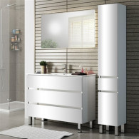 Мебель для ванной Sanvit Кубэ-3 90 белый глянец