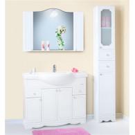 Мебель для ванной Бриклаер Лючия 120 белый глянец