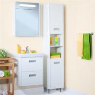 Мебель для ванной Бриклаер Палермо 55/3 подвесная, с 2 ящиками