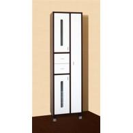 Пенал-шкаф Бриклаер Бали 57 венге, белый, с б/к УТ-00007120