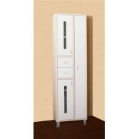 Пенал-шкаф Бриклаер Бали 57 светлая лиственница, белый, с б/к УТ-00007119