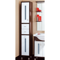 Пенал-шкаф Бриклаер Бали венге, белый L с б/к УТ-00004645
