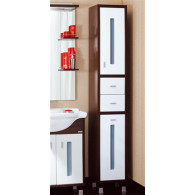 Пенал-шкаф Бриклаер Бали венге, белый R с б/к УТ-00004646