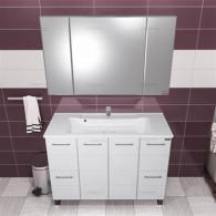 Мебель для ванной СанТа Омега Люкс 120 напольная белая