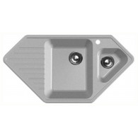 Мойка из мрамора GranFest Corner GF-C950E серый