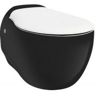 Унитаз подвесной ArtCeram Blend BLV001 черный с белым