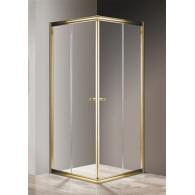 Душевой уголок Cezares Giubileo-A-2-100 прозрачное, золото