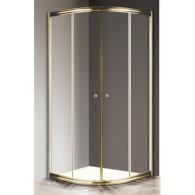 Душевой уголок Cezares Giubileo-R2-80 прозрачное, золото