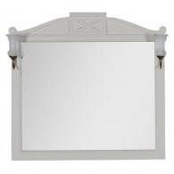 Зеркало Demax Луизиана 110 blanco antic со светильником