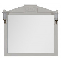 Зеркало Demax Луизиана 110 blanco со светильником