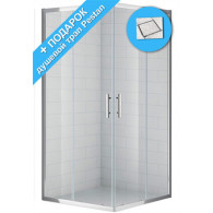 Душевой уголок Cezares Eco A2 80 C Cr стекло прозрачное