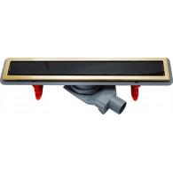 Душевой лоток Pestan Confluo Premium Gold Black Glass Line 300