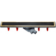Душевой лоток Pestan Confluo Premium Gold Black Glass Line 750