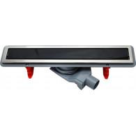 Душевой лоток Pestan Confluo Premium Line 300 черное стекло/сталь