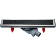 Душевой лоток Pestan Confluo Premium Line 450 черное стекло/сталь