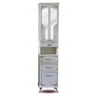 Пенал-шкаф Атолл Барселона белый с медью