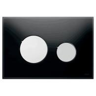 Кнопка слива инсталляций Tece Loop 9.240.656 черное стекло, кнопка хром