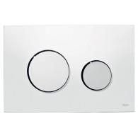 Кнопка слива инсталляций Tece Loop 9.240.627 белая, кнопка хром