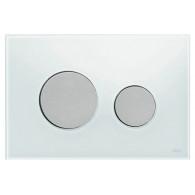 Кнопка слива инсталляций Tece Loop 9.240.659 белое стекло, кнопка матовый хр