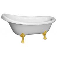 Ванна из искусственного камня AquaStone Скарлет (ножки золото)