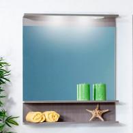 Зеркало для ванной Бриклаер Чили 80 серая лиственница