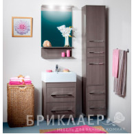 Мебель для ванной Бриклаер Чили 55 серая лиственница