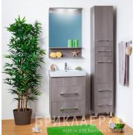 Мебель для ванной Бриклаер Чили 60 серая лиственница