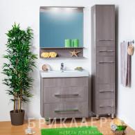Мебель для ванной Бриклаер Чили 80 серая лиственница
