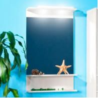 Зеркало для ванной Бриклаер Чили/Куба 55 светлая лиственница