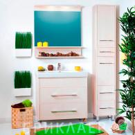 Мебель для ванной Бриклаер Чили 80 светлая лиственница
