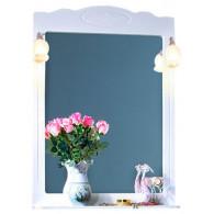 Зеркало для ванной Бриклаер Анна 75 белая ольха