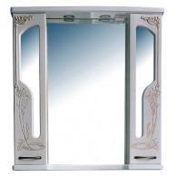 Зеркало-шкаф Атолл Барселона 90 белый с медью