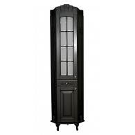 Пенал-шкаф Атолл Александрия черный угловой